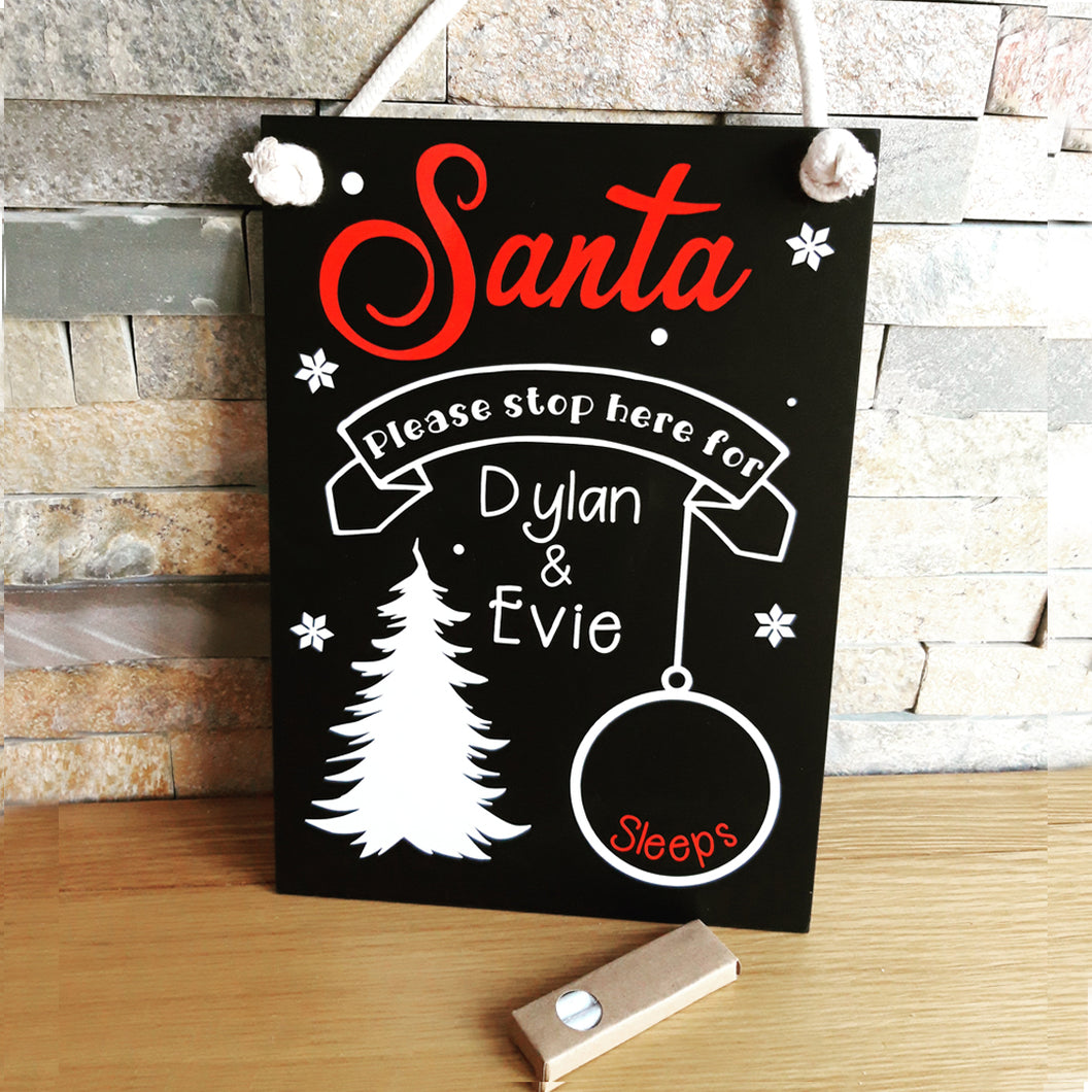 Christmas Countdown Chalkboard - Little Luna Creations
