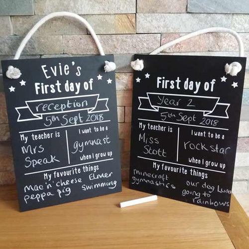 First Day Chalkboards - Little Luna Creations
