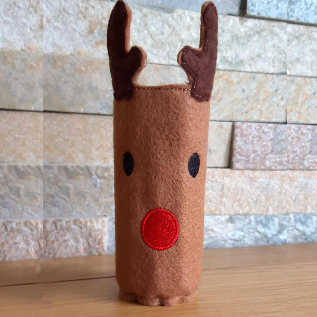 Reindeer Pencil Wrap with Colouring Pencils - Little Luna Creations