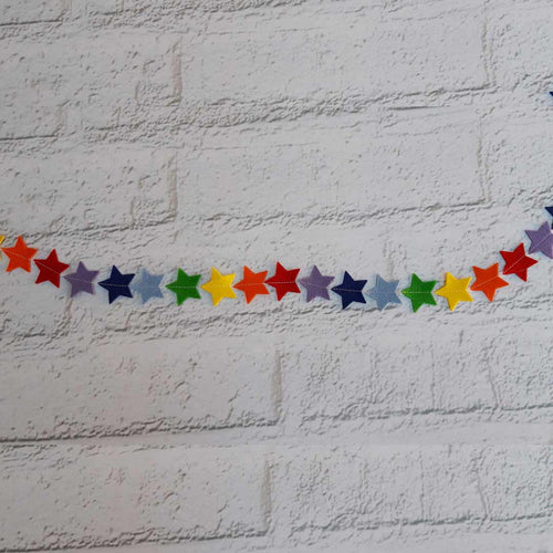 Rainbow Star Bunting - Little Luna Creations