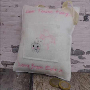 Personalised Tooth Fairy Cushion - Little Luna Creations