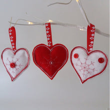 Load image into Gallery viewer, Felt Scandi-themed Christmas Decorations - Little Luna Creations