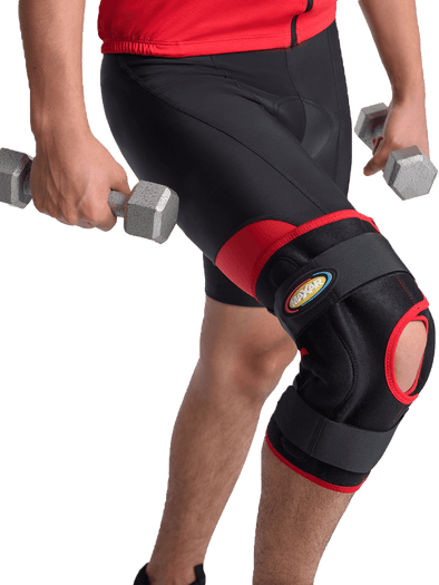 Airprene (Breathable Neoprene) Wrap-Around Knee Brace (Double-Pivot Hinge) Maxar Braces