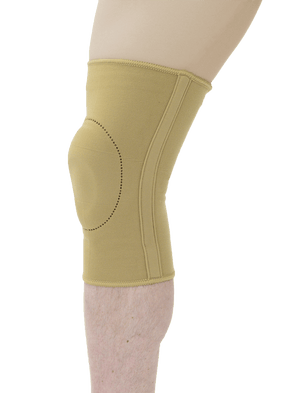 MAXAR Elastic Knee Brace with Donut-Shaped Silicone Ring and Metal Stays - Maxar Braces