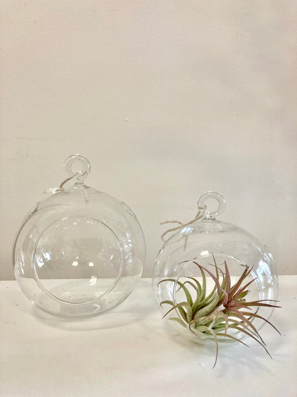 Glass bobble vase