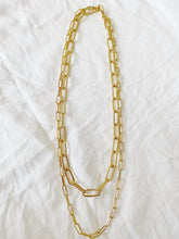 Load image into Gallery viewer, Double Oval Chain Necklace