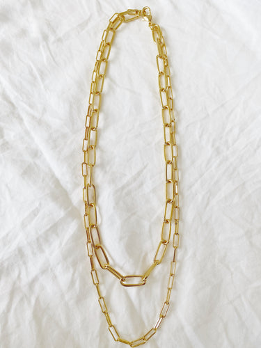 Double Oval Chain Necklace