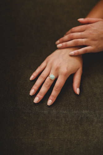 teal square ring