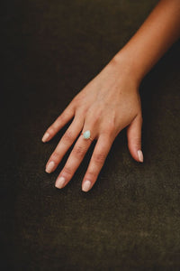 Teal Teardrop Ring