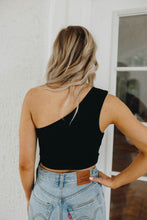 Load image into Gallery viewer, Lani Black One Shoulder Top