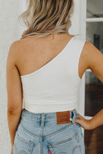 Load image into Gallery viewer, Lani White One Shoulder Top