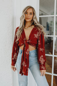 Forever & Always Wrap Top