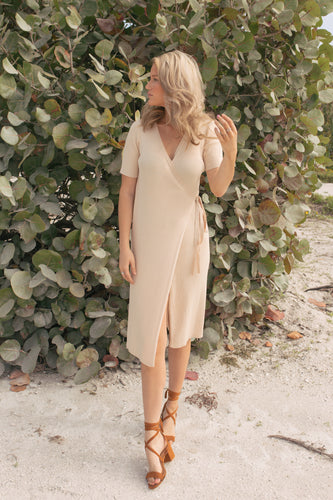 Makin' Me Blush Wrap Dress