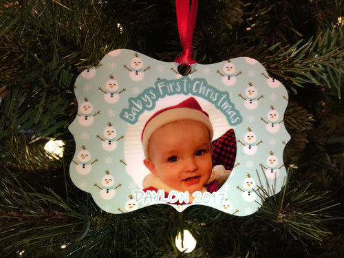 Personalized 2 sided Christmas Ornament