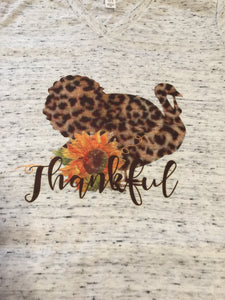 Thankful Leopard Print Turkey