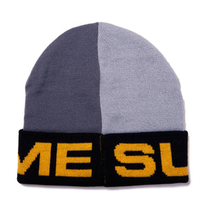 Supreme Split Grey/Yellow Beanie