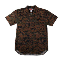 Load image into Gallery viewer, Supreme Mens Comme des Garcons Camo Button-Down Short Sleeve Shirt 24172