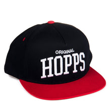 Load image into Gallery viewer, Yupoong Original Hopps 5-Panel Snapback Hat Black/Red 29175