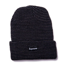 Load image into Gallery viewer, Reflective Stripe Beanie Black/Reflective