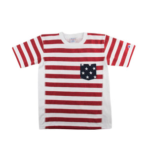 Champion Mens Flag Print Heavyweight Short Sleeved T-Shirt C3-F310-010