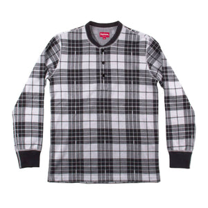 Supreme Mens Plaid Henley 32863