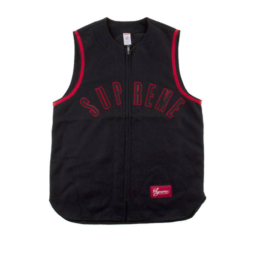 Supreme Mens Wool Zip-Up Baseball Tank 32864