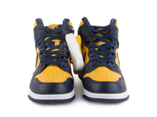 "Load image into Gallery viewer, Nike Mens Dunk High SP ""Michigan"" Varsity Maize/Midnight Navy CZ8149-700"