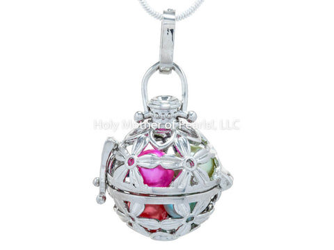 #123 Flower Ball Locket