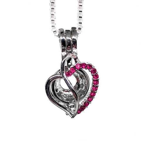 #184 Heart with Pink Rhinestones