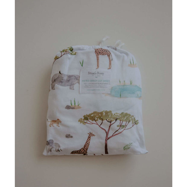 Snuggle Hunny Fitted Cot Sheet - Cotton Jersey