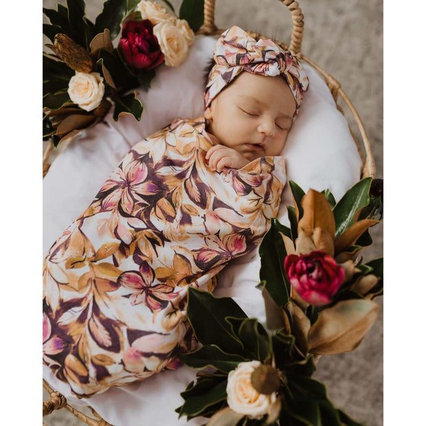 Snuggle Swaddle Sack & Top Knot Set