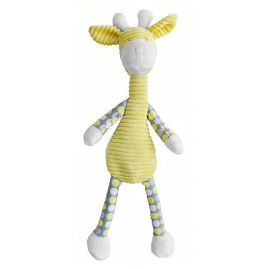 Dangly giraffe - plush baby toy - 4 colours Yellow noosabedbodybaby