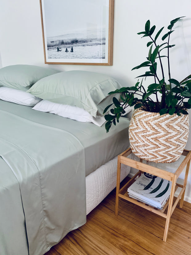 Soft Sage 100% Bamboo bed sheet set