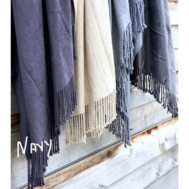 100% Bamboo luxury throw rug with fringe  noosabedbodybaby