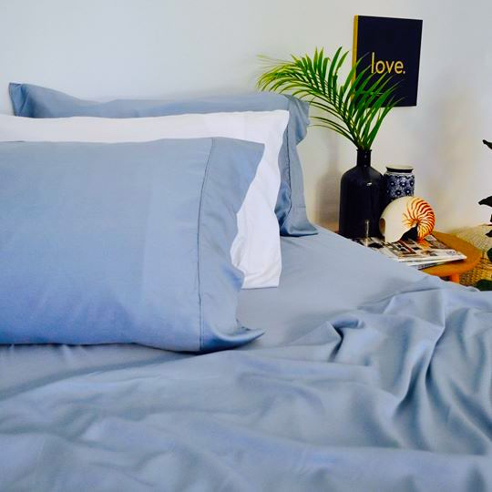 Bed  Sheet Set - 100% Organic Bamboo Super King / Noosa Blue noosabedbodybaby