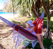 Luxury Cotton Hammock - Scarlet Samba