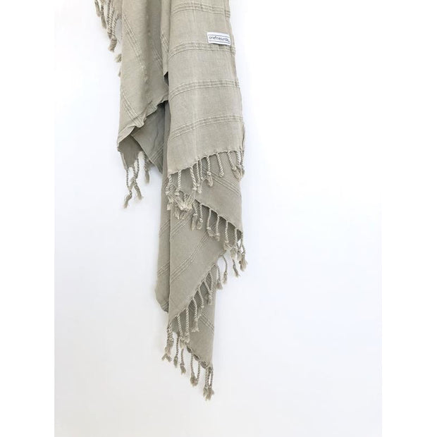 Luxe Stonewash Turkish Towel - bamboo cotton blend Desert Sand noosabedbodybaby