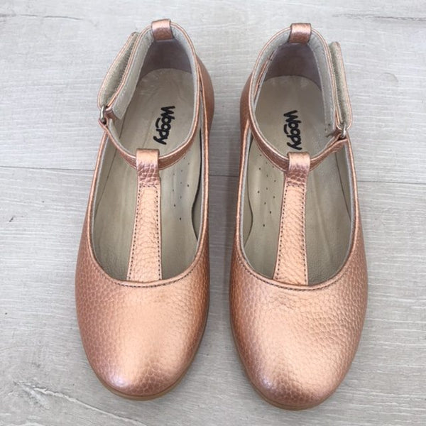 Woopy Leather Valentina Shoes Copper