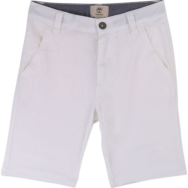 BOYS WHITE BERMUDA SHORTS