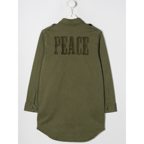 GIRLS PEACE LOGO SHIRT DRESS