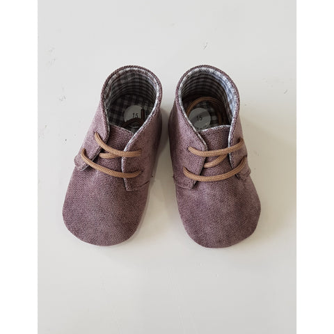 SALVATORE BABY BOY BROWN SHOES