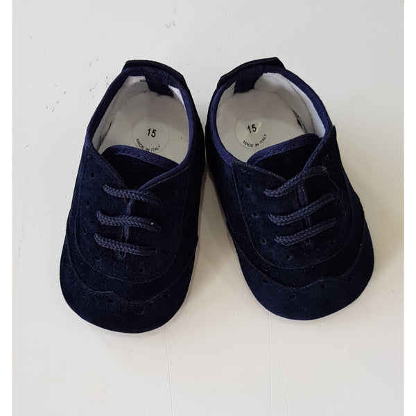 SALVATORE BABY BOY NAVY SHOES