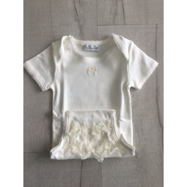 SHORT SLEEVE BABY GIRL BODYSUIT