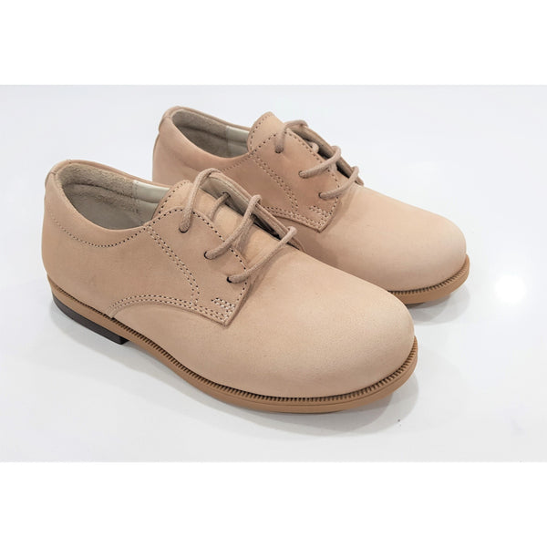 Woopy Suede Gianni Lace up Shoes Beige