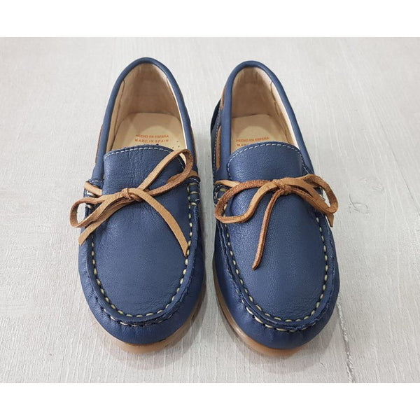 ANDANINES BLUE LEATHER LOAFERS