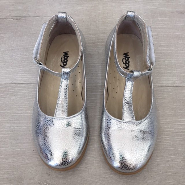 VALENTINA LEATHER SHOES - SILVER
