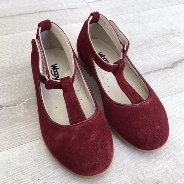 VALENTINA SUEDE SHOES - BORDEAUX