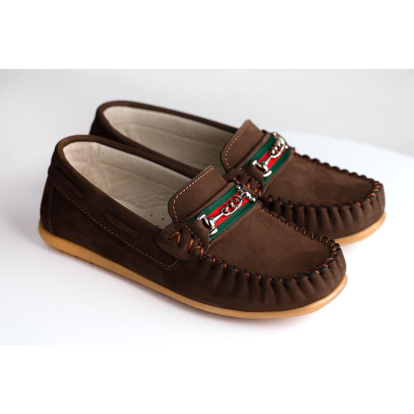 ROMEO SUEDE LOAFERS - BROWN
