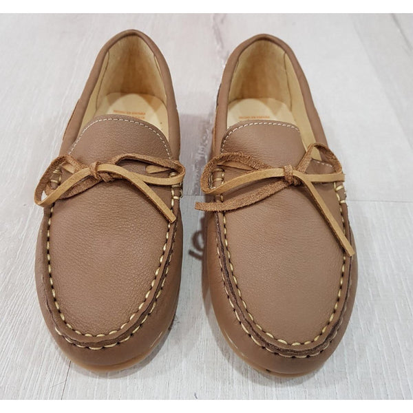 ANDANINES TAN LEATHER LOAFERS