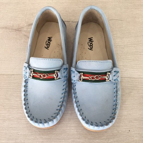 ROMEO SUEDE LOAFERS - BLUE